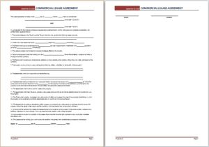 Commercial lease agreement DOWNLOAD at http://www.templateinn.com/36-agreement-templates-for-everyone/