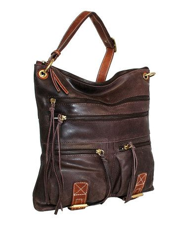 Another great find on #zulily! Chocolate Coronado Leather Crossbody Bag #zulilyfinds