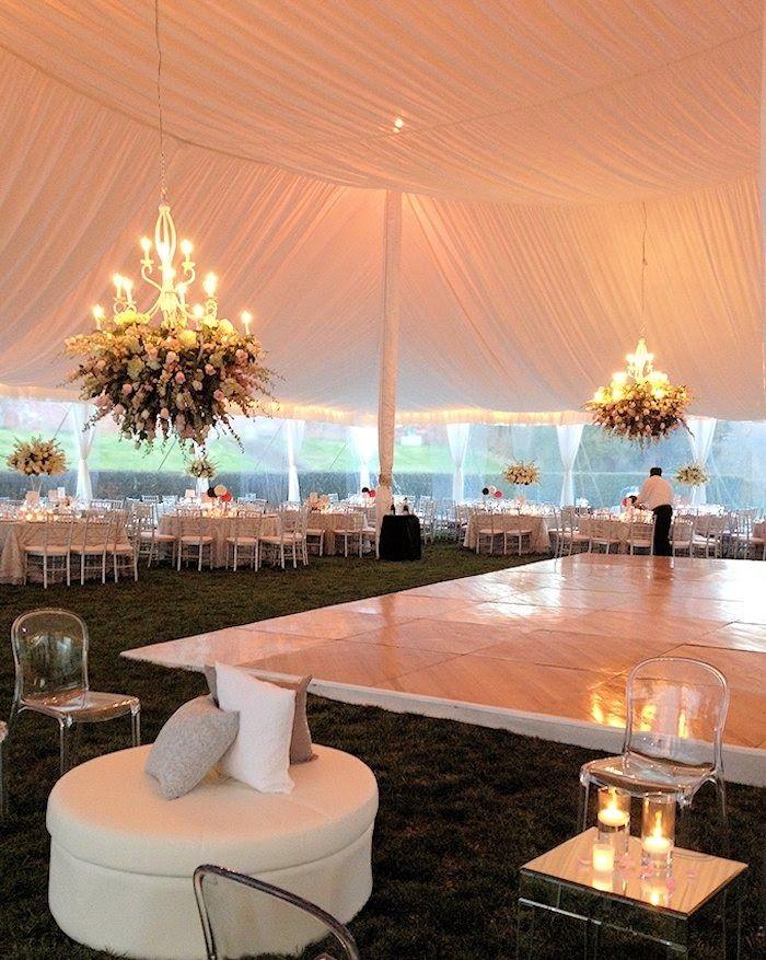 ELLE ELLINGHAUS DESIGNS  Tented Upper Garden Reception at Evergreen. Baltimore MD Wedding Venue