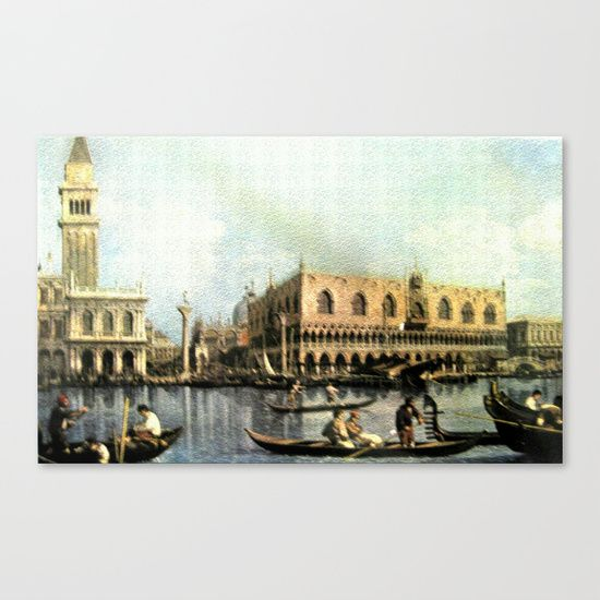 """Painting, Photographic Reproduction, Venice, Marriage of the Sea, Ceremony, Symbolic, From the Scenic Artist """" Giovanni Antonio Canaletto (1679-1768)."""