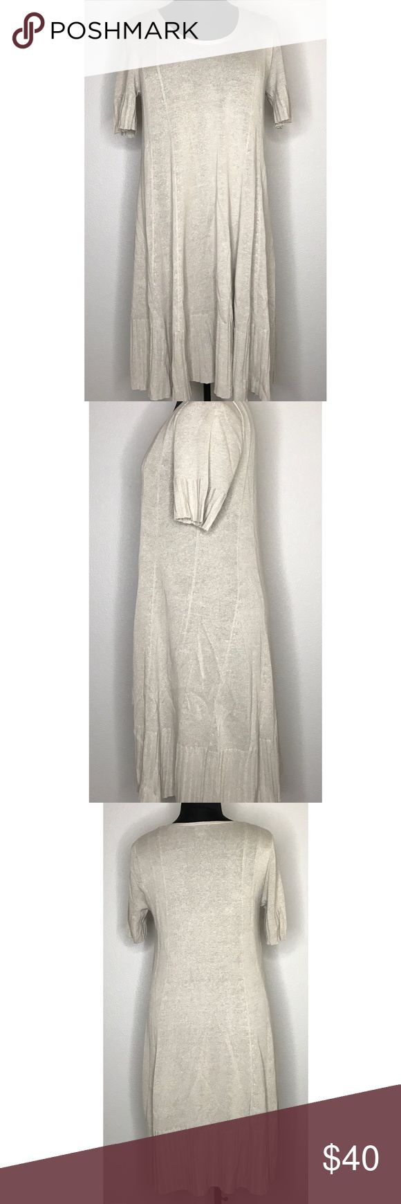 Petite Sweater Dress Lightweight sweater dress is perfect for fall layering! Beautiful cream color with a subtle piping effect. EUC. J. Jill Dresses