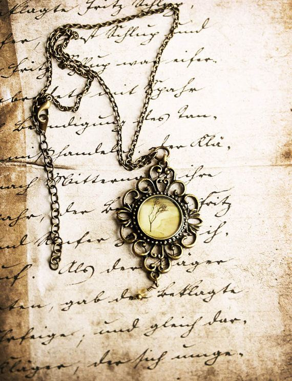 Vintage Inspired Jewelry Photo Necklace - Bared in Sand