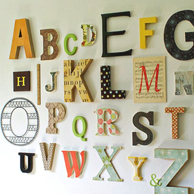 Nursery Wall Decor Ideas 414 best abc's room images on pinterest | playroom ideas, babies