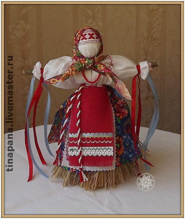 """Купить """"Масленица"""" - масленница, народная кукла, кукла-оберег, магический браслет, ручная работа, лыко"""