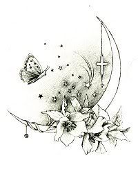 OH I love this! replace the cross with a star and get rid of the butterfly and it's PERFECT