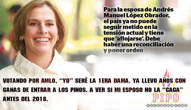 La esposa de Andrés Manuel López Obrador.