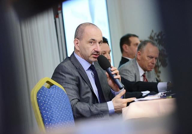Ministr průmyslu a obchodu Martin Kuba se také zúčastnil Fóra českého stavebnictví.