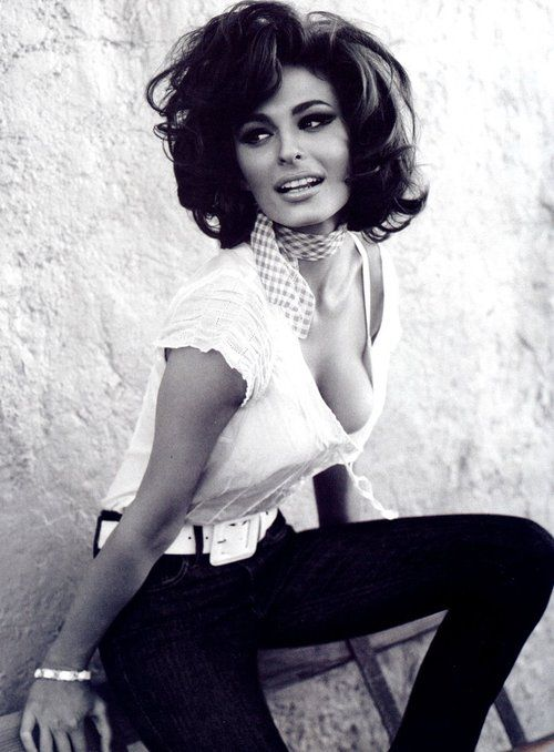 Sophia Loren my hair WILL look like this in a few months.
