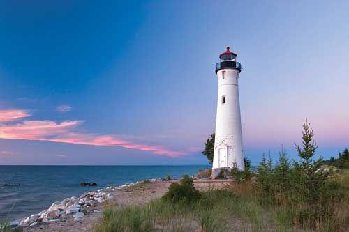 Michigan lighthouse. #travel, #michigan, #lighthouses