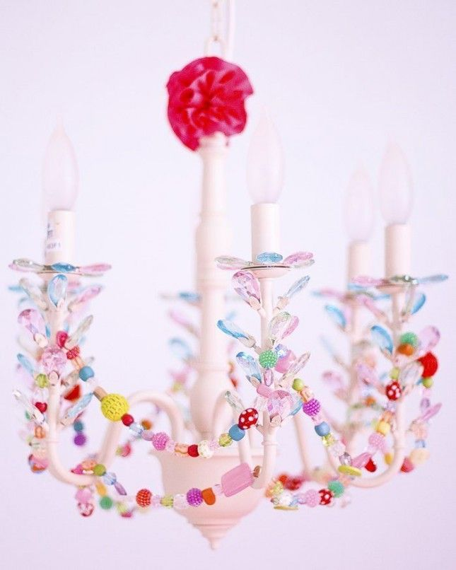 10 Kids' Chandeliers You'll Want to Hang in Your Room via Brit + Co.