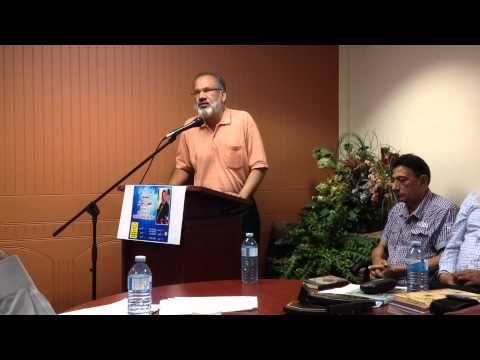 Afzal Raaz from Pakistan reading poem in Punjabi
