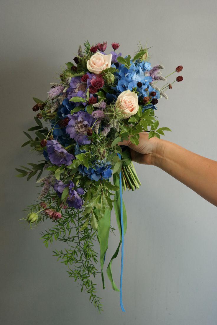 Hand-tied shower bouquet.
