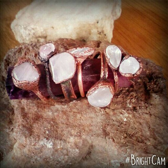 Check out this item in my Etsy shop https://www.etsy.com/listing/483233172/rose-quartz-ring-crystal-ring-statement
