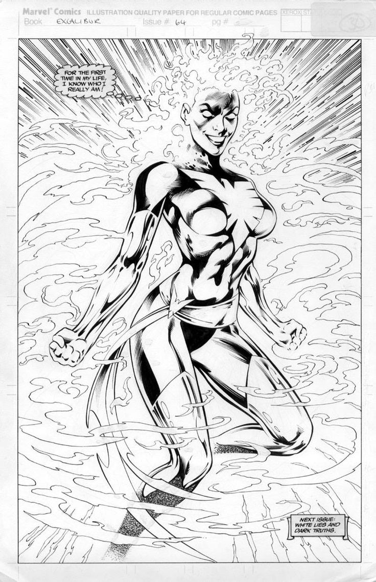 Excalibur #64: Rachel Summers - Dark Phoenix by Alan Davis, inks by Mark Farmer *
