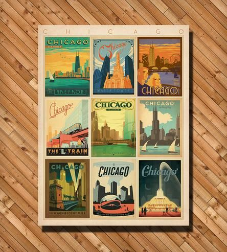Chicago Multi Print by Anderson Design Group on Scoutmob Shoppe