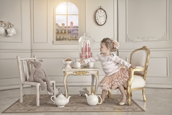 If I ever have a little girl, she is getting the most frou frou princess tea set and furniture...so she can entertain her guests of course!