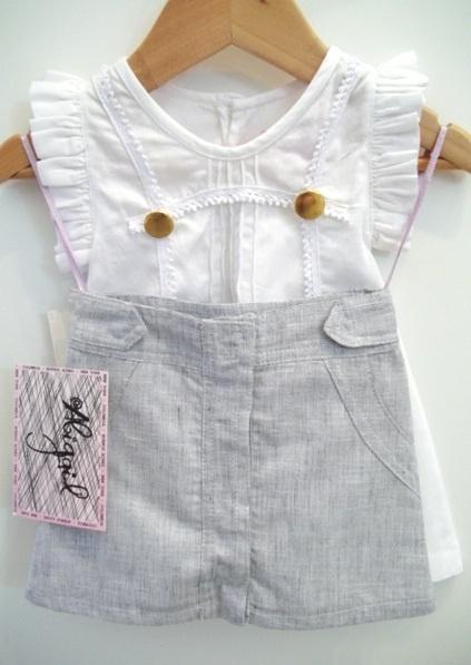 Abigail Childrenswear Linen outfit