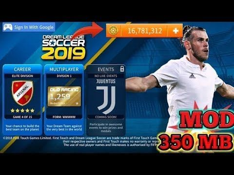 Dream League Soccer 2019 Dls 19 Offline V6 12 Mod Apk Data Unlimited Coins No Root In 2020 Install Game Play Hacks Game Download Free