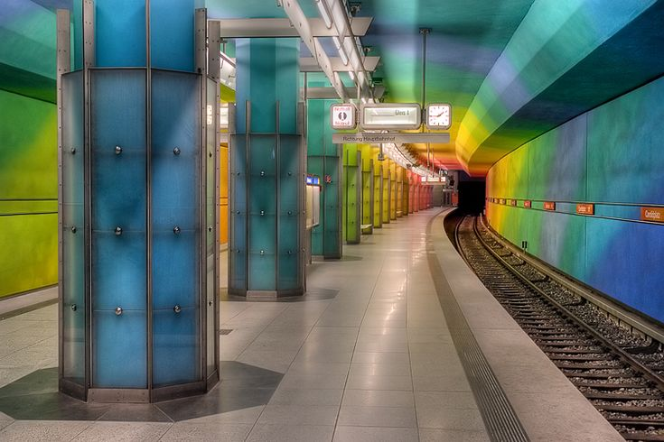 Candidplatz Station on the U1 Line was opened in 1997, and is arguably the most colorful station in the whole U-Bahn.
