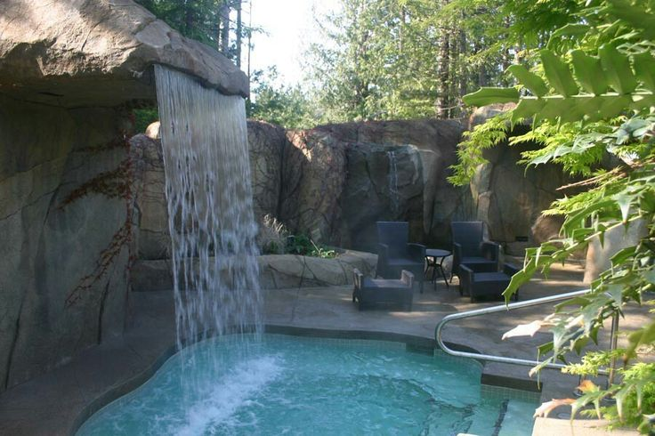 the spa at painted boat resort. $40/person and includes a sauna cave, outdoor glacial rain shower, multi-jet hot pool with massaging waterfall, and warm saltwater flotation pool