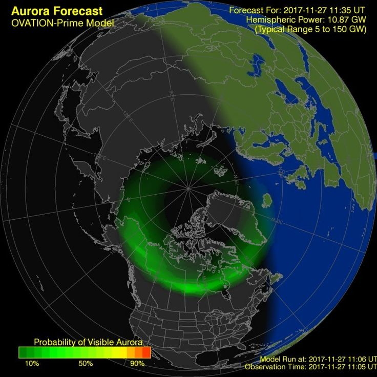 Aurora Forecast   Geophysical Institute