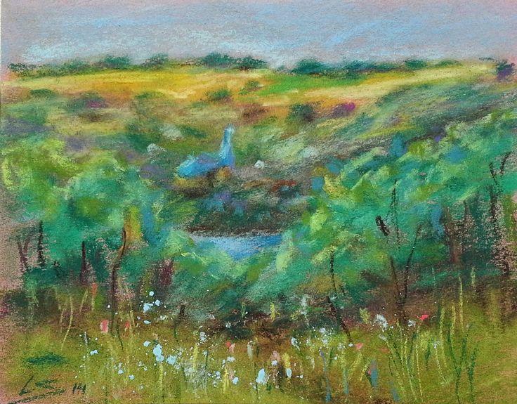 """Moldova"" Original Pastel Painting by Liudmila Suhorucova, 4x6"""