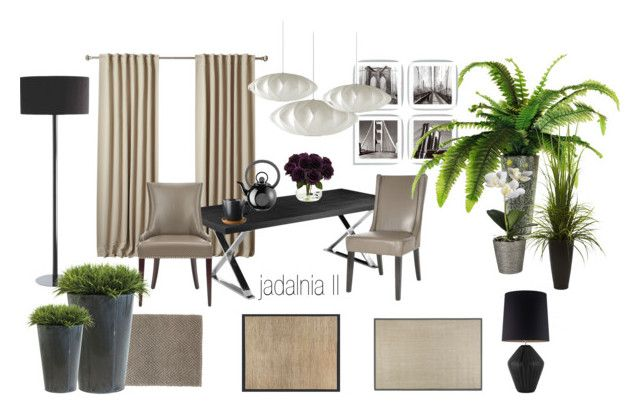 jadalnia by a-filipczak on Polyvore featuring interior, interiors, interior design, dom, home decor, interior decorating, Safavieh, Bella Figura Lighting, Herman Miller and Dash & Albert