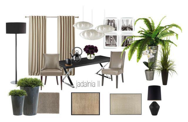 jadalnia by a-filipczak on Polyvore featuring interior, interiors, interior design, dom, home decor, interior decorating, Safavieh, Bella Figura Lighting, Herman Miller and Dash & Albert