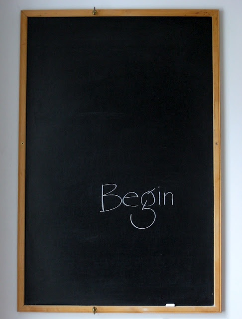A clean slate: Begin.... Every day is a chance to start over. How will you make today better than yesterday?