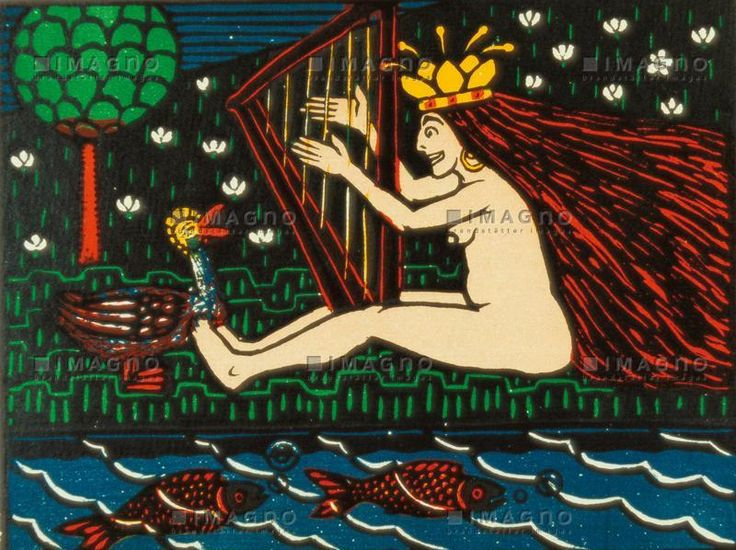 Wilhelm Laage, 1898, Märchen, colour woodcut