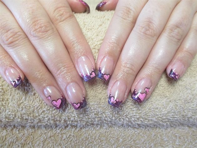 Valentine's nail art (from 2015) by irinavk2 from Nail Art Gallery