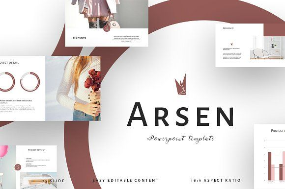 ARSEN Powerpoint Template by Maspiko on @creativemarket