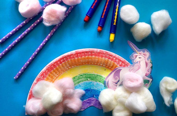 Ber ideen zu regenbogen einhorn auf pinterest for Kindergeburtstag pappteller