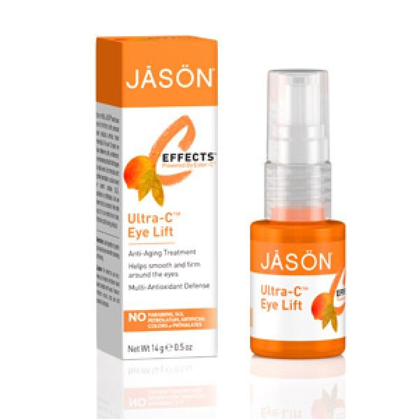 JASON C-Effects Ultra C natural anti aging eye serum will give your eyes the lift you've been looking for. This unique, multi-antioxidant complex of Ester-C®, Vitamin C, Thioctic Acid, Vitamin E and Green Tea nourishes the delicate skin around your eyes and protects it against skin-aging free radicals that can cause premature aging, including fine lines and wrinkles.