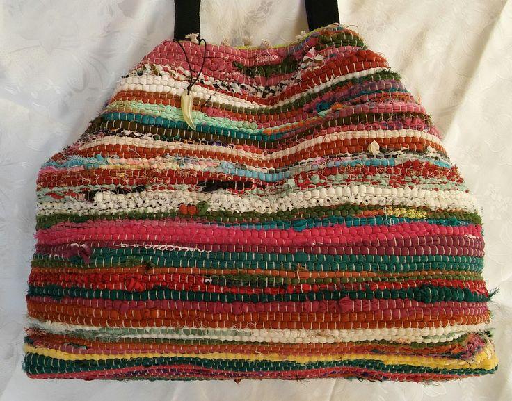Τσάντα χειροποίητη bohο απο κουρελού