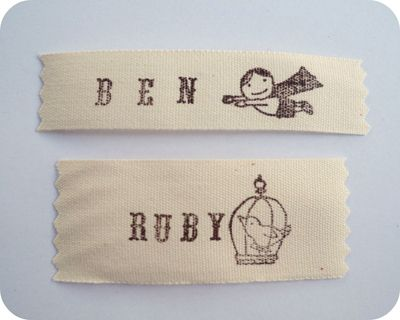 Hand-Stamped Clothing Labels || Ivy Designs for Sew,Mama,Sew!