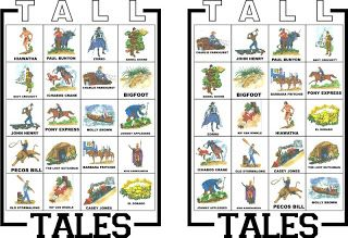 Pony Express District Cub Scouts: Game for Bear Achievement 4: Tall Tales Bingo