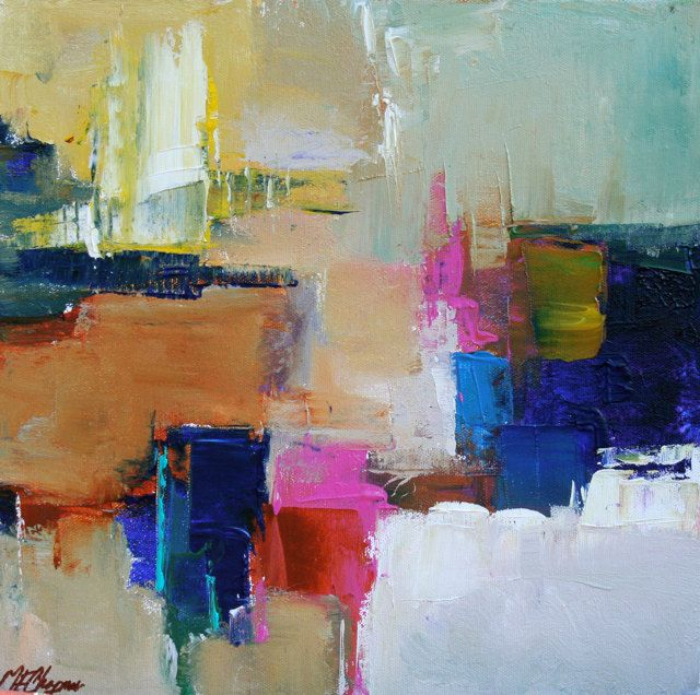 Abstract Painting ORIGINAL Art Abstract Art Acrylic Contemporary Painting on canvas by Elizabeth Chapman