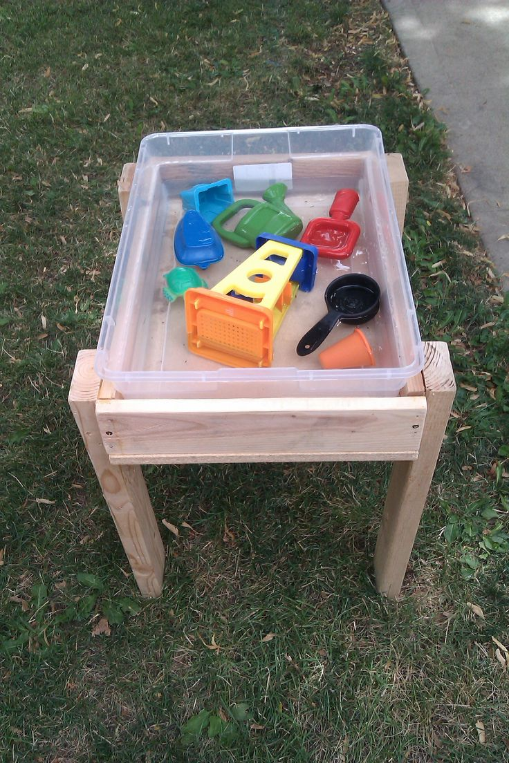 Preschool Table Toys : Water table idea easy to clean and stores toys for