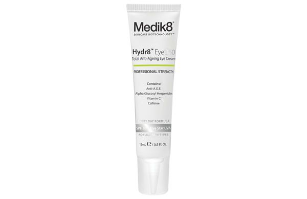 Protect, brighten, de-puff and protect the delicate skin around the eyes with the new Medik8 Hydr8 Eye 360 SPF30.