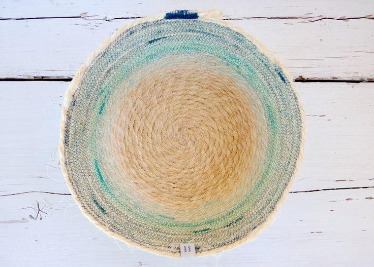 Handmade Sisal Crochet Basket Korb Turquose - Petrol  ~ Nordic Design Style ~ http://kymastyle.wordpress.com ~ Dawanda Shop: http://dawanda.com/shop/kymastyle