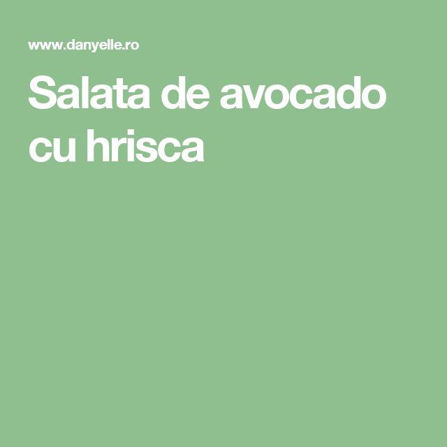 Salata de avocado cuhrisca