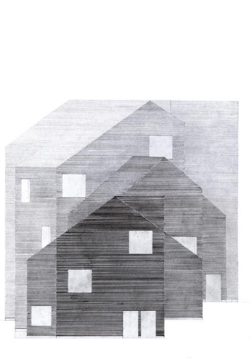 "Elisabet Sundin, Facade study, ""Elementary school in Nordvest"" Copenhagen via Drawing Architecture tumblr"