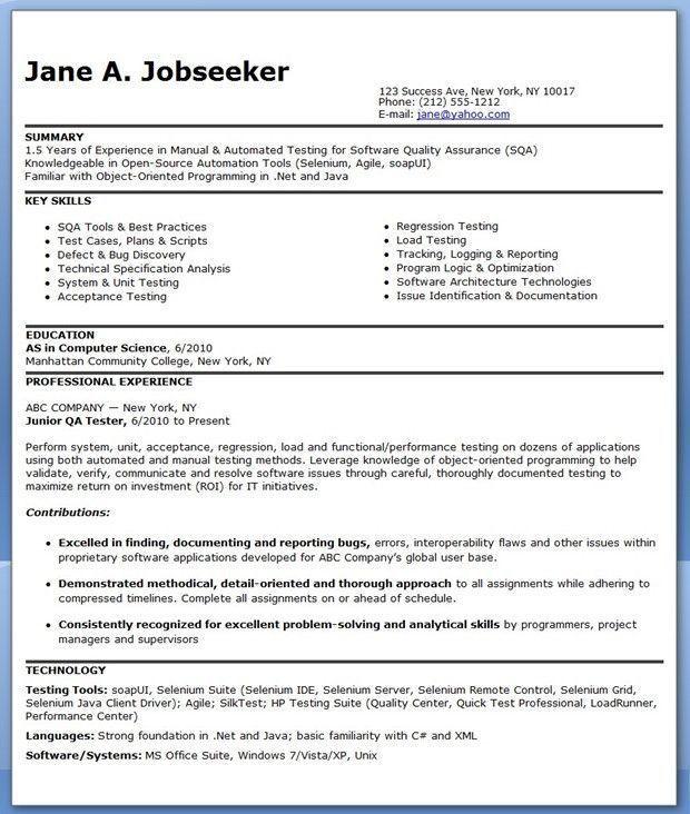 Qa Tester Resume No Experience Popular Qa Software Tester Resume Sample Entry Level Of 25 Pop Good Resume Examples Resume Software Resume Examples