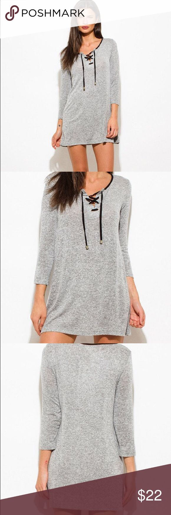 """No Diggity"" Tunic dress! Happy New Year Sale!  Everything Must Go! Dresses Long Sleeve"