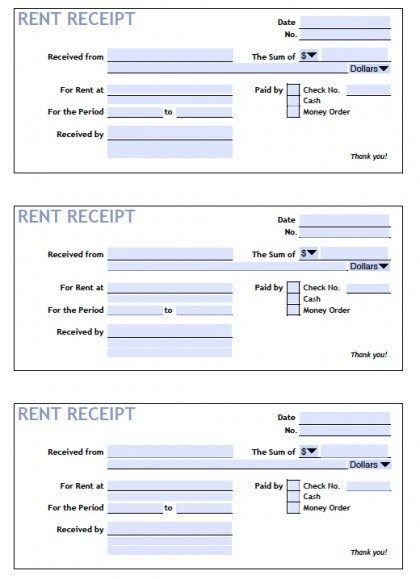 18 Free Receipt Of Payment Templates In Word Excel Pdf