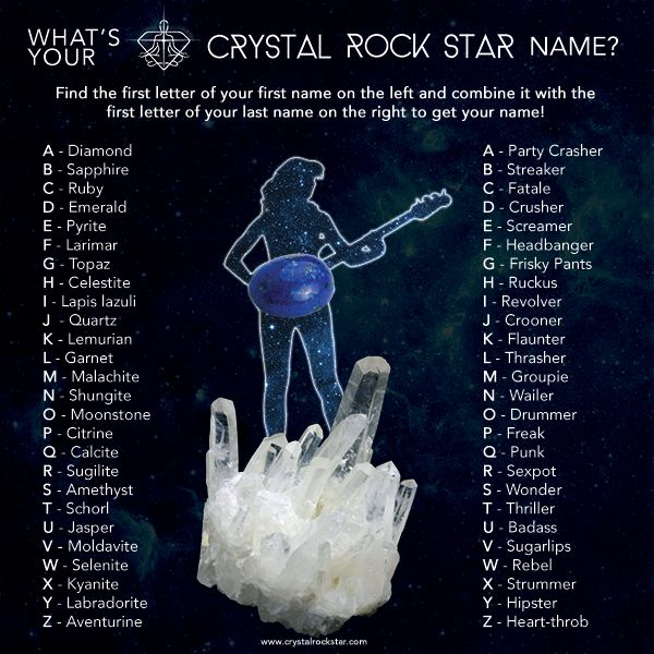 What's Your Name Generator | What's Your Crystal Rock Star Name?