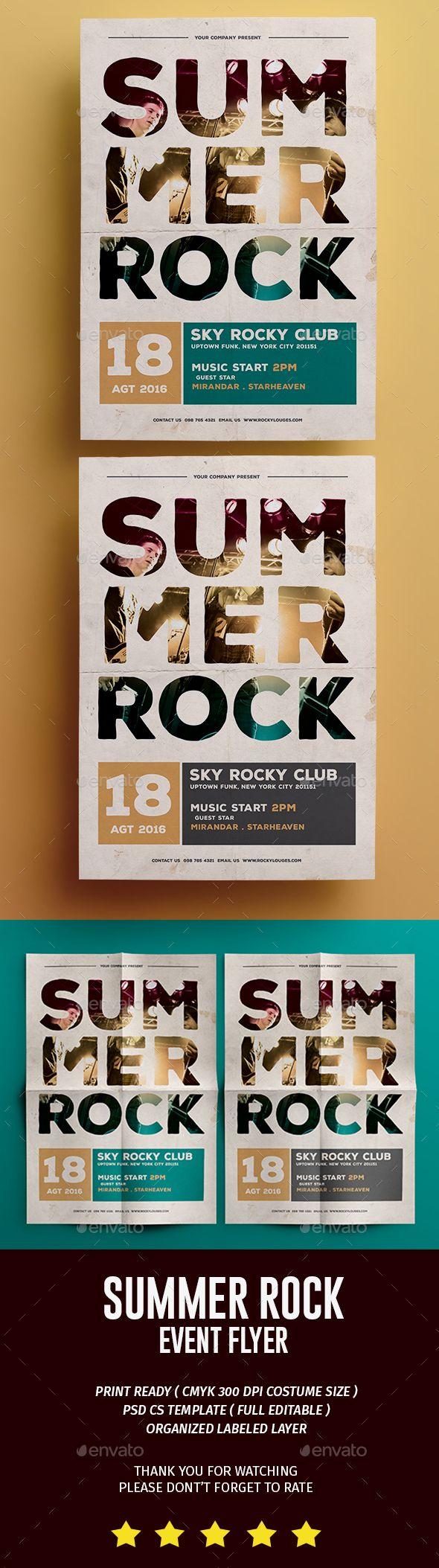 70s poster design template - Summer Rock Flyer