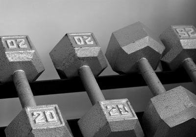 PowerBlocks--compact, adjustable-weight dumbbell sets