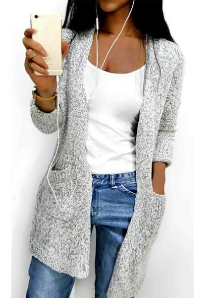 19e5360b6f4bfd Women Long Sleeve Loose Knitting Soft Cardigan Pocket in 2019 ...